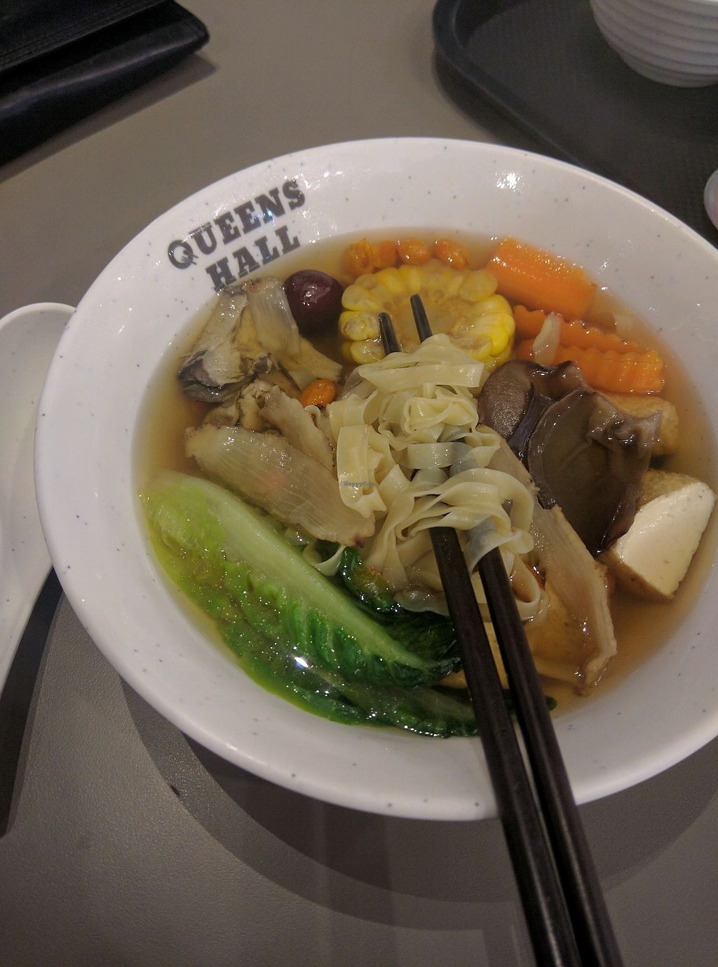 "Photo of Green Rabbit Vegetarian Kitchen  by <a href=""/members/profile/Summer_Tan"">Summer_Tan</a> <br/>Special of the day: Herbal Soup  Noodles Hearty and comforting. Noodles has a bite, al dente, it's good. Herbs, vegetables, carrot and tofu. Would be nice with some mushrooms. Pretty good vegan herbal soup <br/> February 3, 2018  - <a href='/contact/abuse/image/77842/354504'>Report</a>"