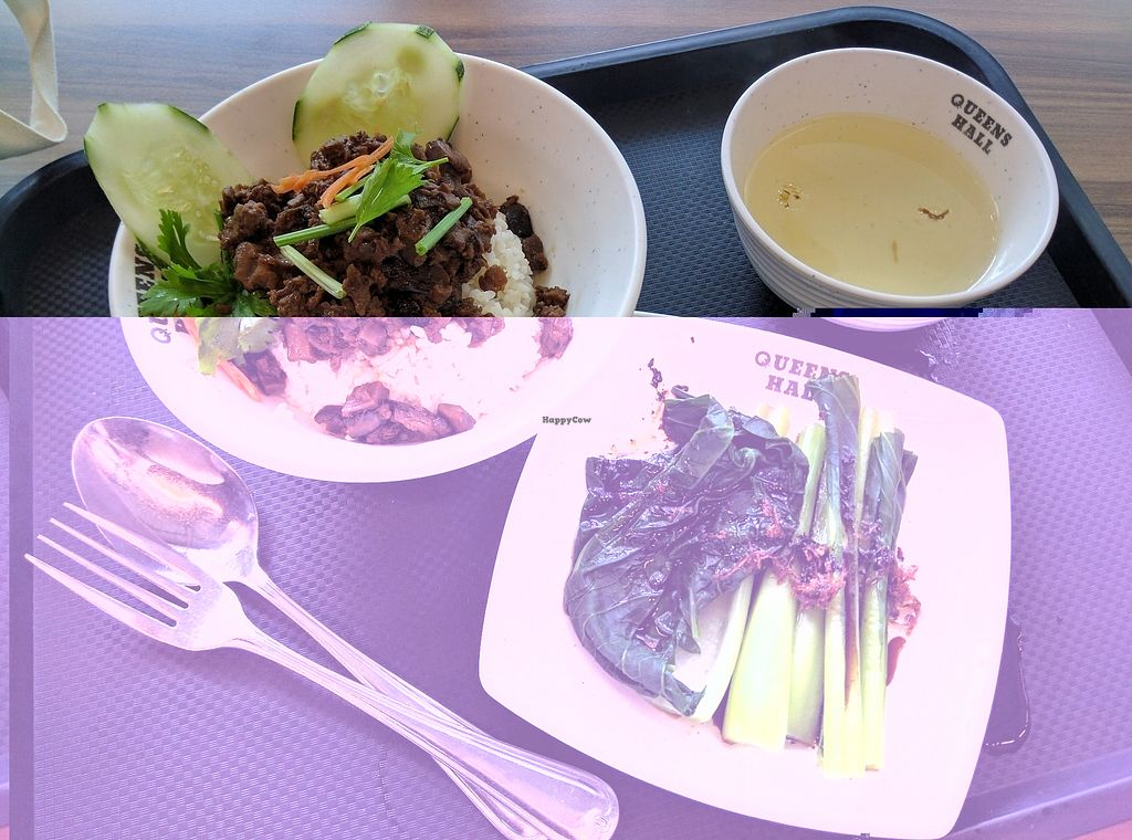 "Photo of Green Rabbit Vegetarian Kitchen  by <a href=""/members/profile/Summer_Tan"">Summer_Tan</a> <br/>R8: Braised Mushroom with Yao Choy and Soup - RM11.90 Good portion and taste ok, well seasoned, could be more flavourful. Very well balanced with the side of green vegetables <br/> February 3, 2018  - <a href='/contact/abuse/image/77842/354505'>Report</a>"