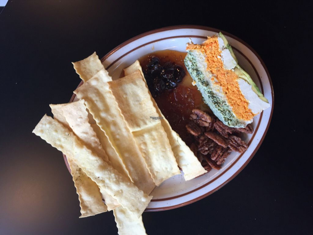 "Photo of Liberty Food & Wine Exchange  by <a href=""/members/profile/AmeliaC"">AmeliaC</a> <br/>tofu terraine with a sweet marmalade, pecans, and house made crackers. INCREDIBLE!!! <br/> August 6, 2016  - <a href='/contact/abuse/image/77850/165997'>Report</a>"