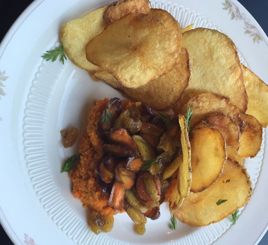 "Photo of Liberty Food & Wine Exchange  by <a href=""/members/profile/AmeliaC"">AmeliaC</a> <br/>carrot tapenade with glazed sweet carrots on top with potato crisps <br/> August 6, 2016  - <a href='/contact/abuse/image/77850/207656'>Report</a>"