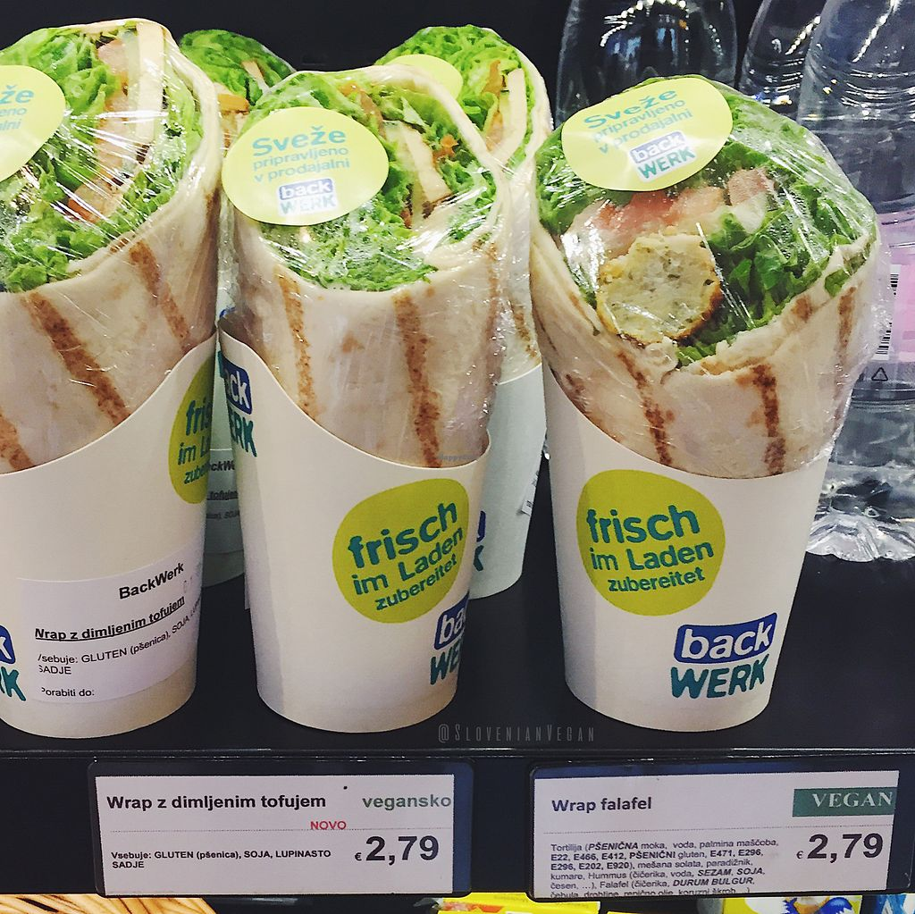 """Photo of BackWerk  by <a href=""""/members/profile/slovenianvegan"""">slovenianvegan</a> <br/>Vegan wraps  Picture taken from: https://www.facebook.com/slovenianvegan/ <br/> June 22, 2017  - <a href='/contact/abuse/image/77858/272121'>Report</a>"""