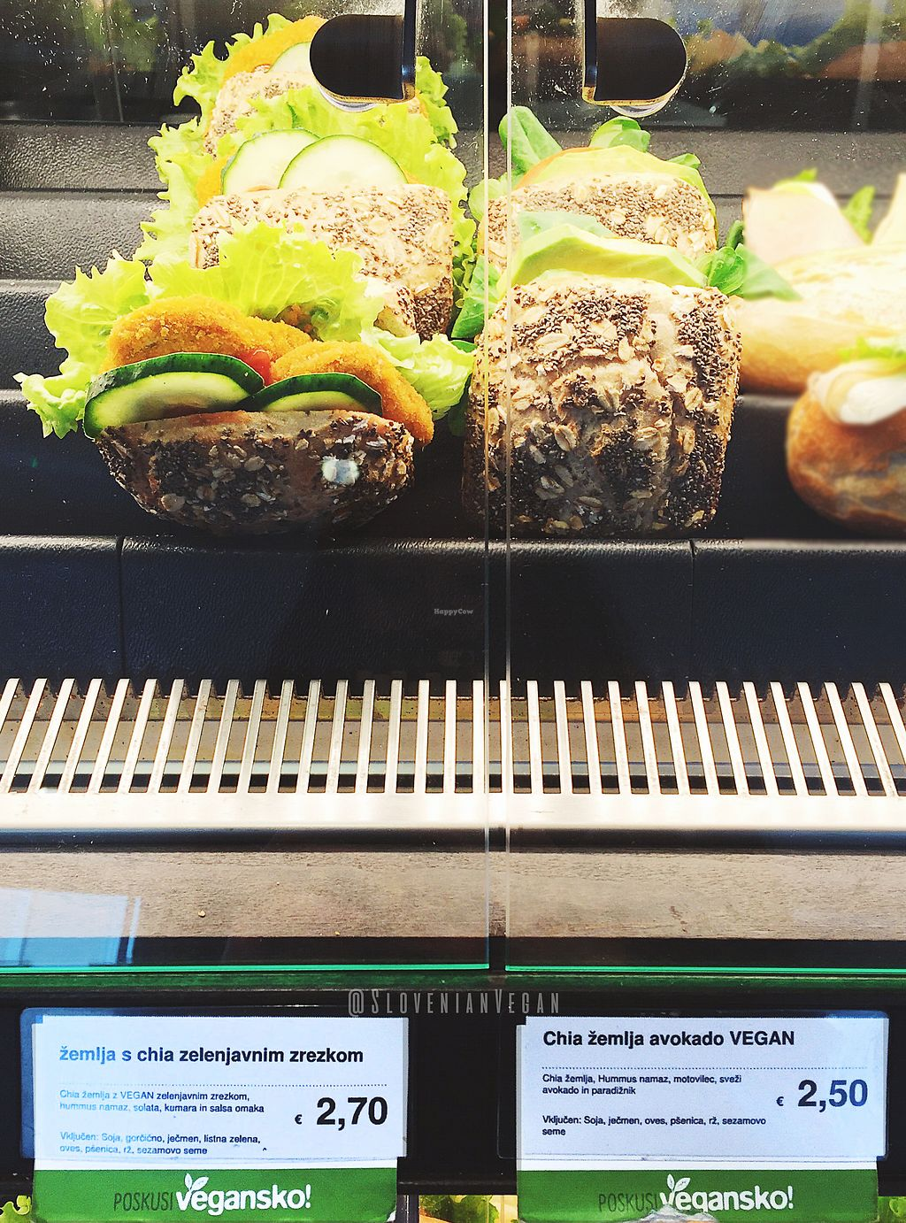 """Photo of BackWerk  by <a href=""""/members/profile/slovenianvegan"""">slovenianvegan</a> <br/>Chia sandwich with vegetable steak or avocado  Photo by: Slovenian Vegan page on Facebook <br/> February 2, 2018  - <a href='/contact/abuse/image/77858/353999'>Report</a>"""