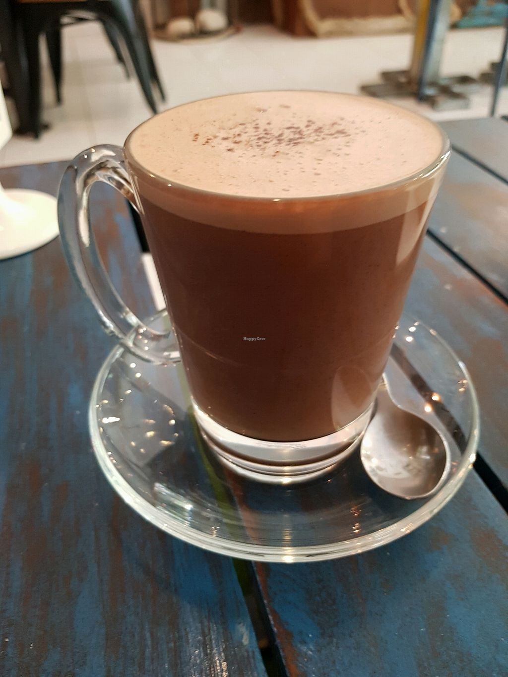 "Photo of Wilson's  by <a href=""/members/profile/vegatleticas"">vegatleticas</a> <br/>Chilli Hot Chocolate with Almond/Coconut Milk <br/> February 25, 2018  - <a href='/contact/abuse/image/77898/363464'>Report</a>"