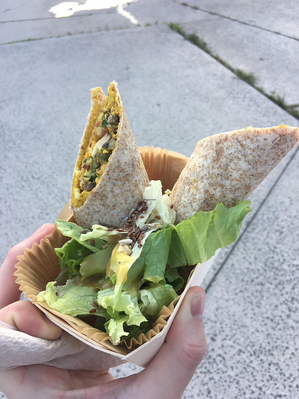 "Photo of L'Essentiel Chez Raphael - Food Truck  by <a href=""/members/profile/Jonathon67"">Jonathon67</a> <br/>Vegan Hummus Wrap 03 Sep 2017 ❤️ <br/> September 3, 2017  - <a href='/contact/abuse/image/77936/300482'>Report</a>"