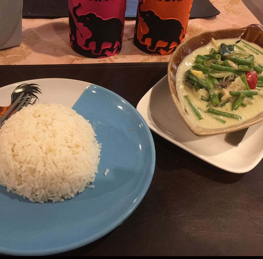 """Photo of EuroThai Restaurant   by <a href=""""/members/profile/Mammabrom"""">Mammabrom</a> <br/>green vegetable curry <br/> October 25, 2016  - <a href='/contact/abuse/image/77941/184347'>Report</a>"""