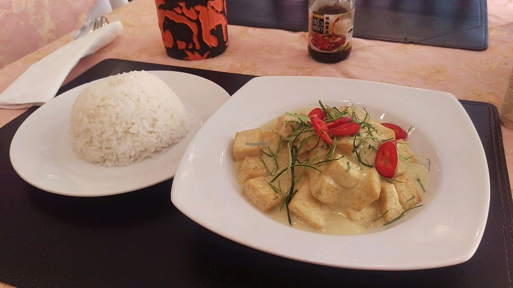 """Photo of EuroThai Restaurant   by <a href=""""/members/profile/MarjoDsgln"""">MarjoDsgln</a> <br/>panang curry with tofu <br/> February 14, 2018  - <a href='/contact/abuse/image/77941/359056'>Report</a>"""