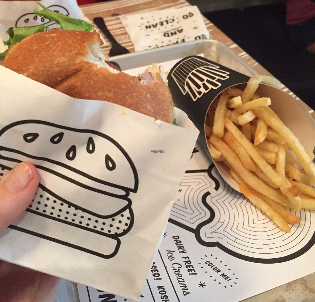 """Photo of By Chloe - Flatiron  by <a href=""""/members/profile/kmanchester306"""">kmanchester306</a> <br/>Classic burger & fries  <br/> August 3, 2016  - <a href='/contact/abuse/image/77964/165143'>Report</a>"""