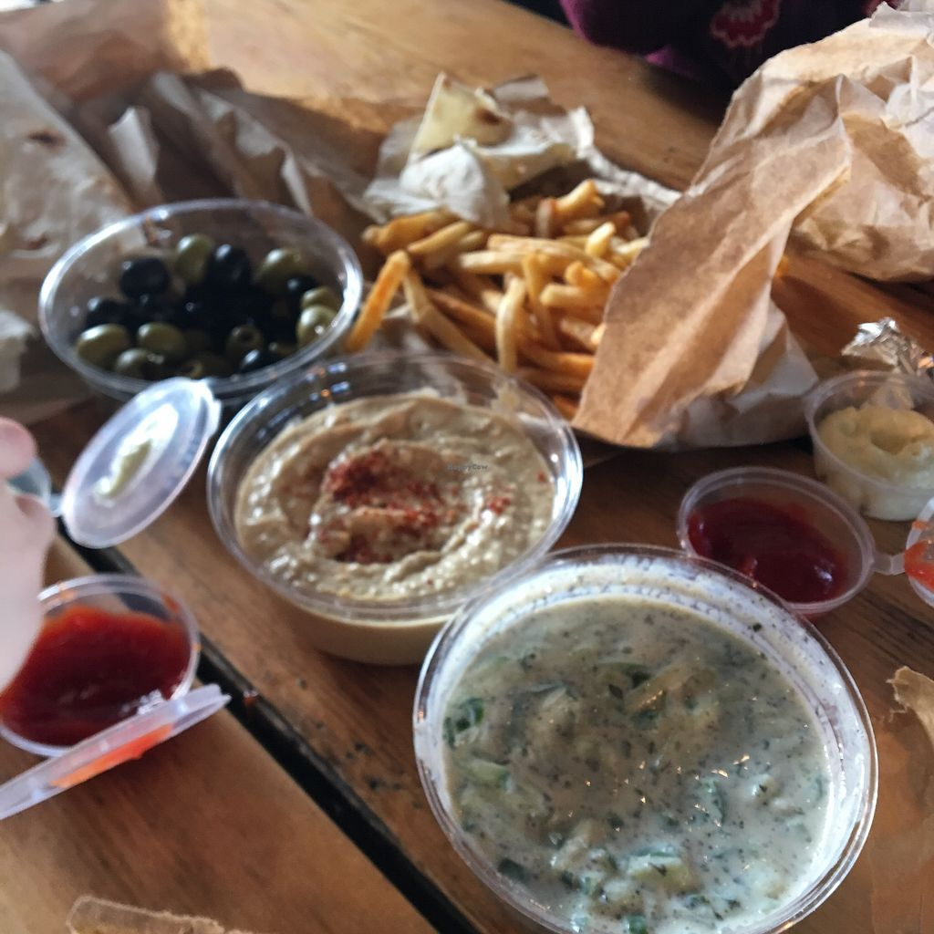 "Photo of What The Pitta - Shoreditch  by <a href=""/members/profile/hamptonmummy"">hamptonmummy</a> <br/>Cold Mezze ? <br/> April 8, 2018  - <a href='/contact/abuse/image/77970/382698'>Report</a>"