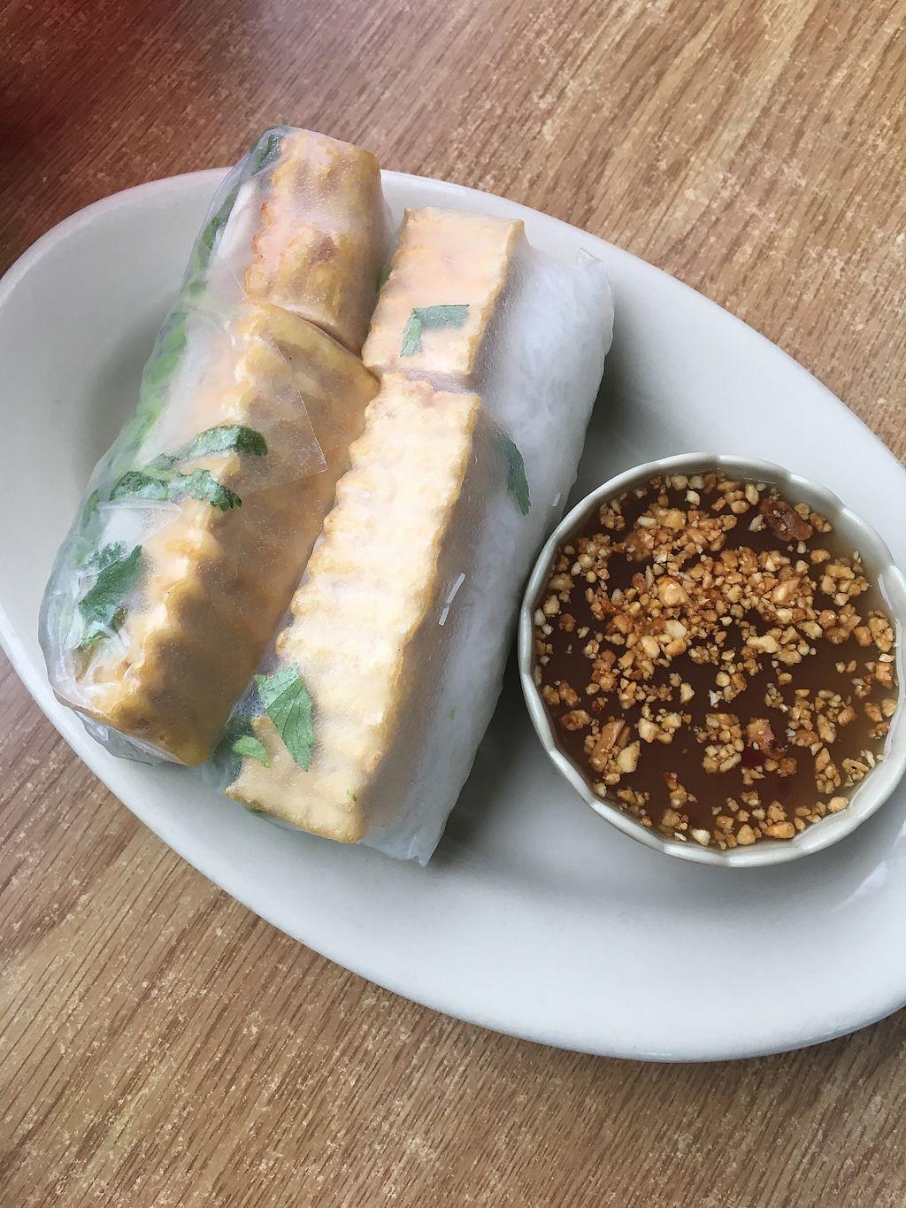 "Photo of Thai Thai Cafe   by <a href=""/members/profile/Traveling.Plant_Eater"">Traveling.Plant_Eater</a> <br/>Soft Spring Rolls with Tofu <br/> January 3, 2018  - <a href='/contact/abuse/image/77977/342614'>Report</a>"