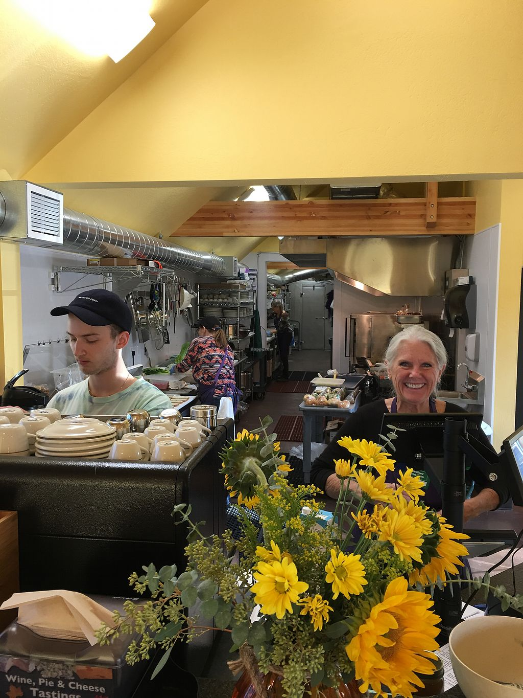 """Photo of Medford Food Co-op & The Cafe  by <a href=""""/members/profile/fbatzer%40gmail.com"""">fbatzer@gmail.com</a> <br/>The bright and sunny Cafe' at the Medford Food Co-op. So excited to see so many vegan options on their menu.  <br/> November 14, 2017  - <a href='/contact/abuse/image/77991/325786'>Report</a>"""