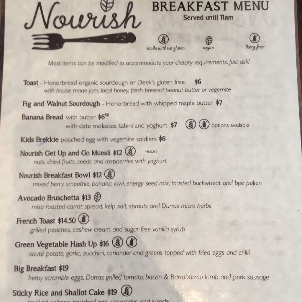 """Photo of Nourish on North   by <a href=""""/members/profile/LaPaloquecome"""">LaPaloquecome</a> <br/>Café breakfast menu <br/> March 30, 2017  - <a href='/contact/abuse/image/77995/242544'>Report</a>"""