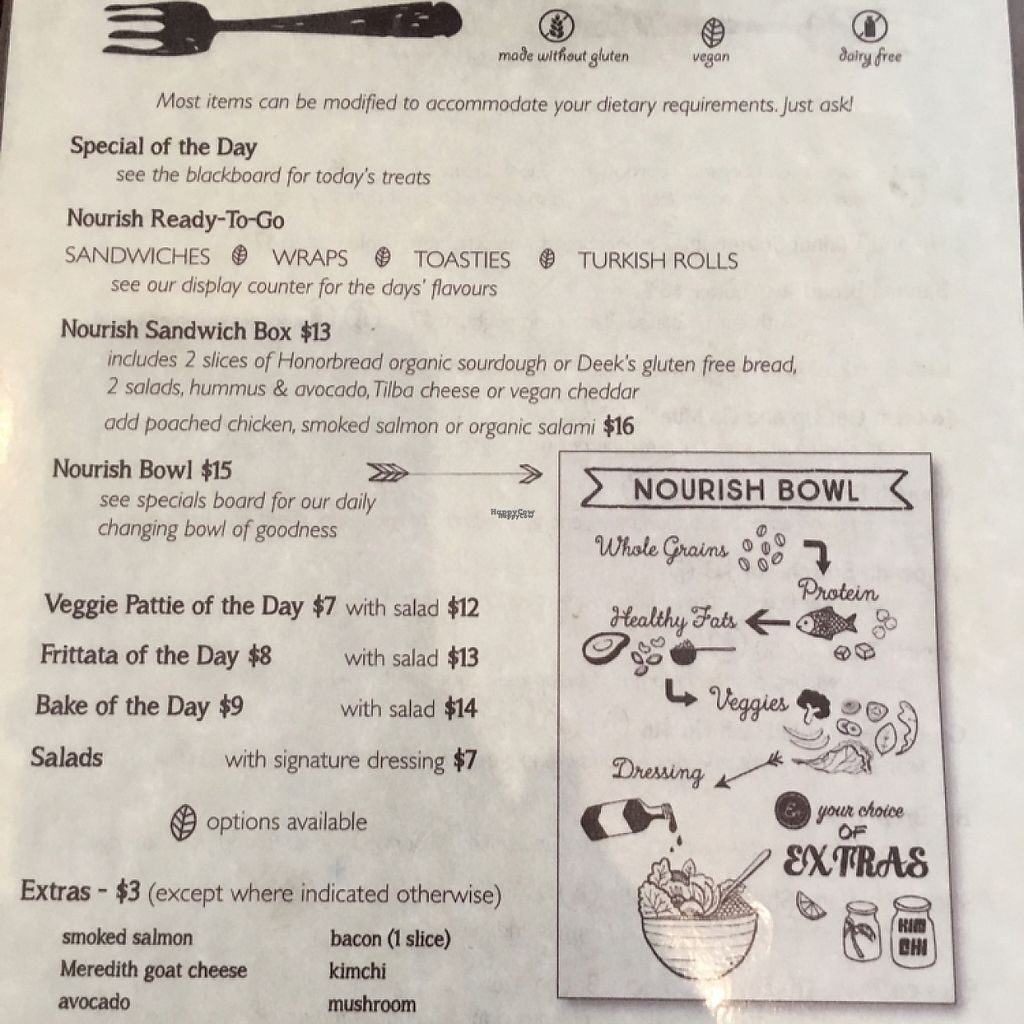 """Photo of Nourish on North   by <a href=""""/members/profile/LaPaloquecome"""">LaPaloquecome</a> <br/>Cafe lunch menu <br/> March 30, 2017  - <a href='/contact/abuse/image/77995/242545'>Report</a>"""