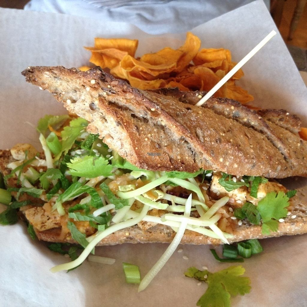 """Photo of CLOSED: Brewetarian   by <a href=""""/members/profile/Julie%20R"""">Julie R</a> <br/>Chili Tofu Sammy (DELICIOUS!) <br/> September 13, 2016  - <a href='/contact/abuse/image/77996/175355'>Report</a>"""