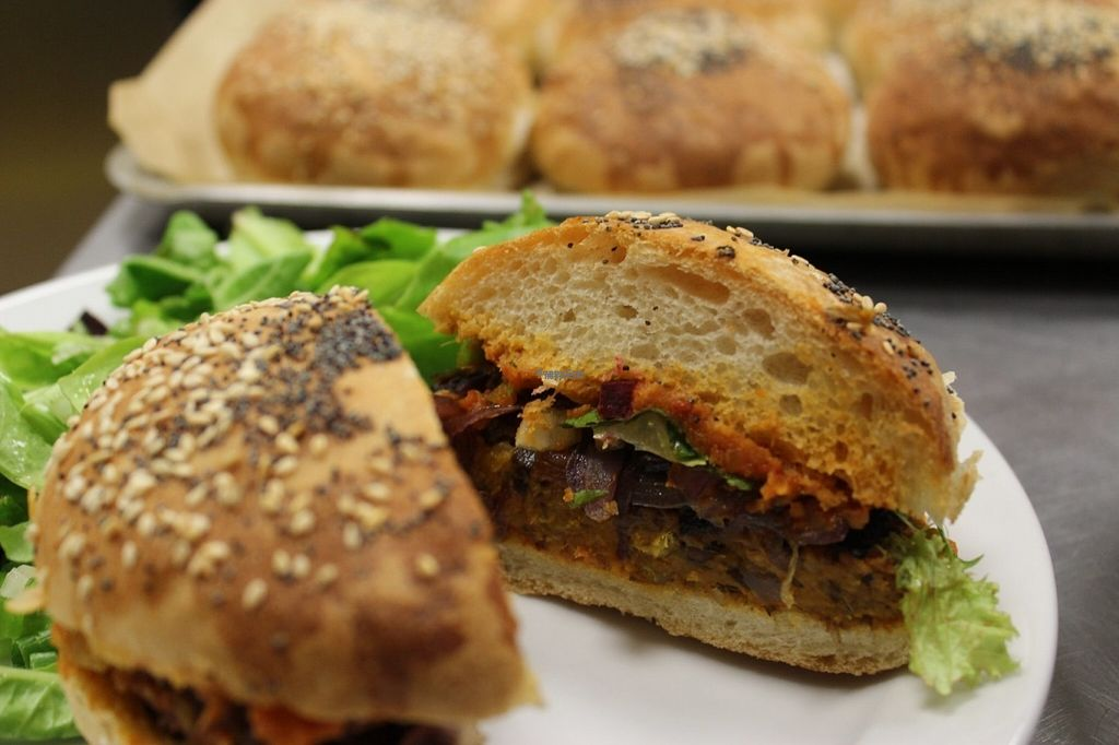 """Photo of The Pod  by <a href=""""/members/profile/AliceTahi"""">AliceTahi</a> <br/>Sweet potato and chickpea burger in homemade buns <br/> August 5, 2016  - <a href='/contact/abuse/image/78005/165663'>Report</a>"""