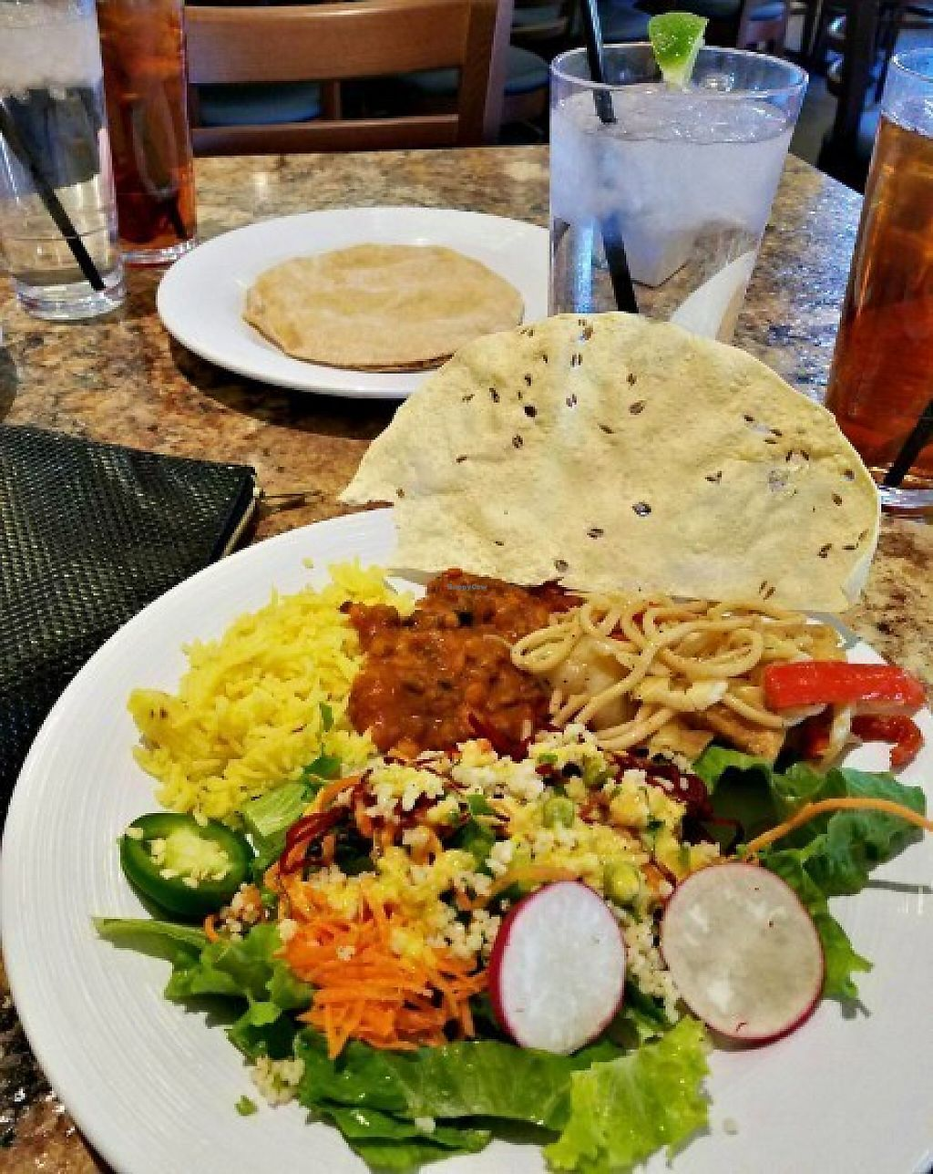 """Photo of Govinda's  by <a href=""""/members/profile/carnivoresandvegans"""">carnivoresandvegans</a> <br/>A BUFFET PLATE OF GOODNESS <br/> May 14, 2017  - <a href='/contact/abuse/image/78041/258718'>Report</a>"""