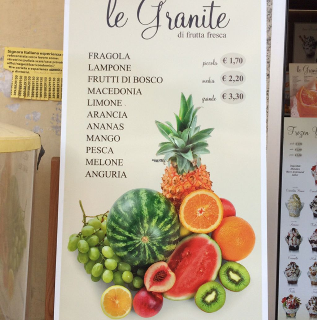 """Photo of Gelateria Cavour  by <a href=""""/members/profile/amn060708"""">amn060708</a> <br/>Fresh Fruit Sign <br/> August 5, 2016  - <a href='/contact/abuse/image/78046/165827'>Report</a>"""