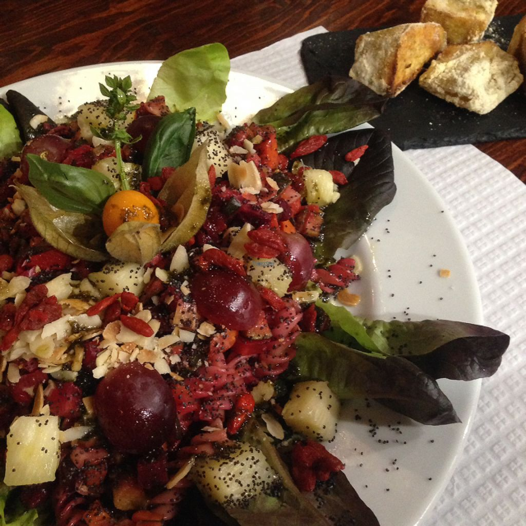"""Photo of Casa da Rosa  by <a href=""""/members/profile/VaniaBriito"""">VaniaBriito</a> <br/>""""Sexy"""" vegan Salad <br/> February 13, 2017  - <a href='/contact/abuse/image/78048/226301'>Report</a>"""