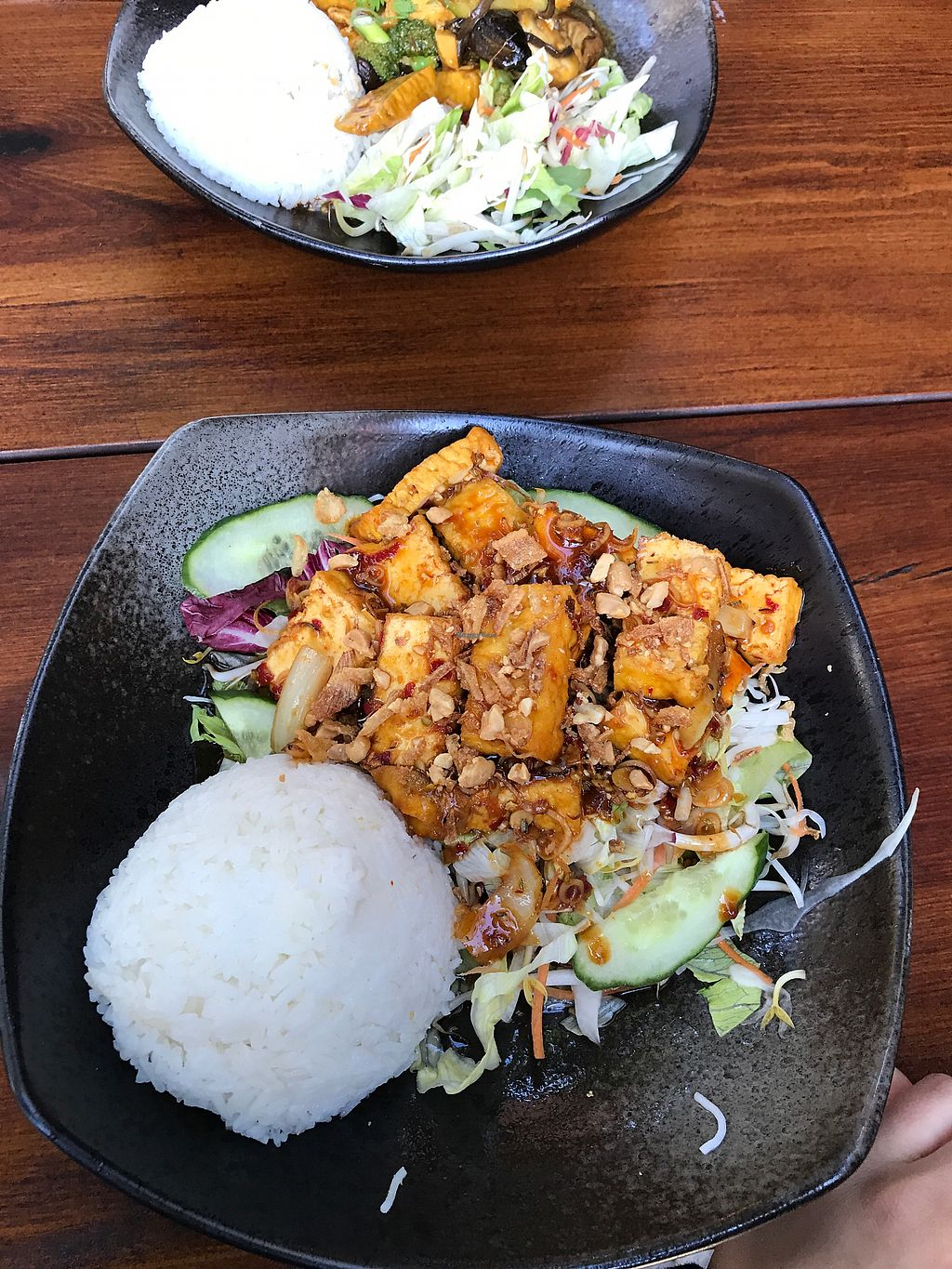 "Photo of Chay Umi  by <a href=""/members/profile/paz%26ash"">paz&ash</a> <br/>Spicy tofu with salad and rice ? <br/> August 15, 2017  - <a href='/contact/abuse/image/78089/292997'>Report</a>"