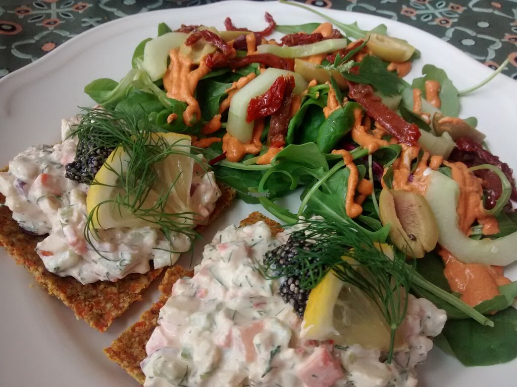 """Photo of Mandel & Malla  by <a href=""""/members/profile/Nina%20Organicwala.in"""">Nina Organicwala.in</a> <br/>Raw food lunch, very delicious and filling <br/> August 18, 2016  - <a href='/contact/abuse/image/78093/169774'>Report</a>"""