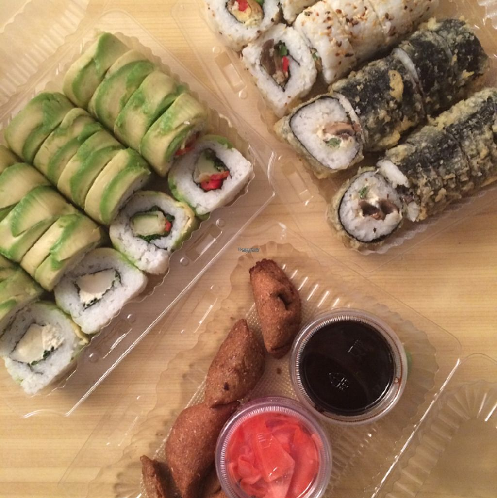 """Photo of Runaway Sushi  by <a href=""""/members/profile/lohka"""">lohka</a> <br/>Vegan Promotion <br/> August 13, 2016  - <a href='/contact/abuse/image/78099/168032'>Report</a>"""