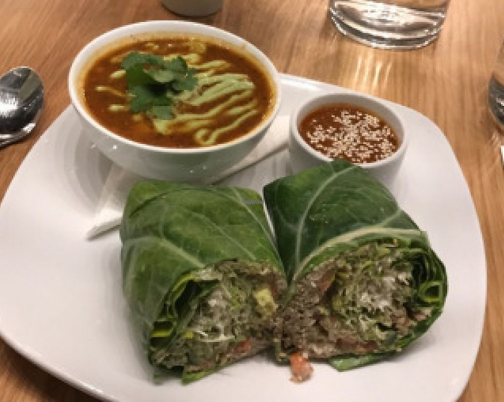 """Photo of Living Kitchen  by <a href=""""/members/profile/yulie1022"""">yulie1022</a> <br/>Living Burrito with house hot sauce and a side of Chilli Bean soup <br/> November 8, 2016  - <a href='/contact/abuse/image/78100/214683'>Report</a>"""