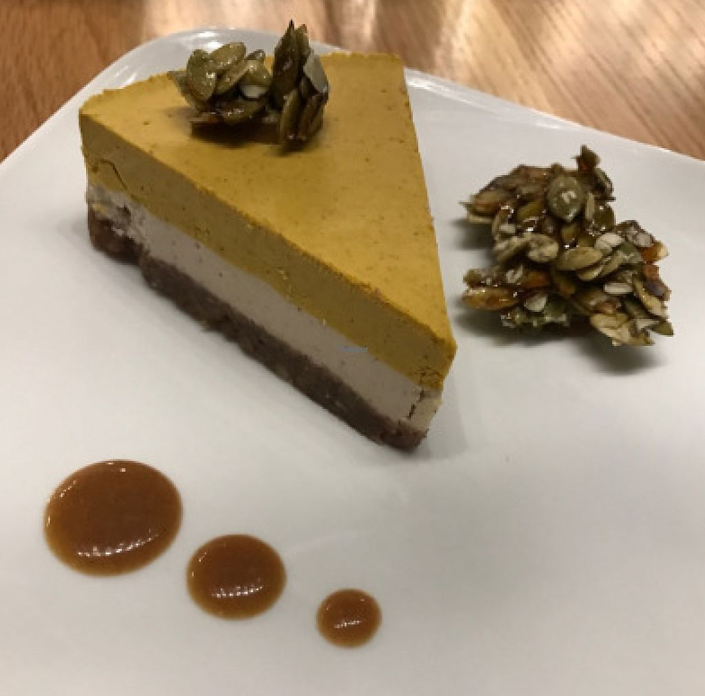 """Photo of Living Kitchen  by <a href=""""/members/profile/yulie1022"""">yulie1022</a> <br/>Vegan and raw pumpkin pie cheesecake <br/> November 8, 2016  - <a href='/contact/abuse/image/78100/214694'>Report</a>"""