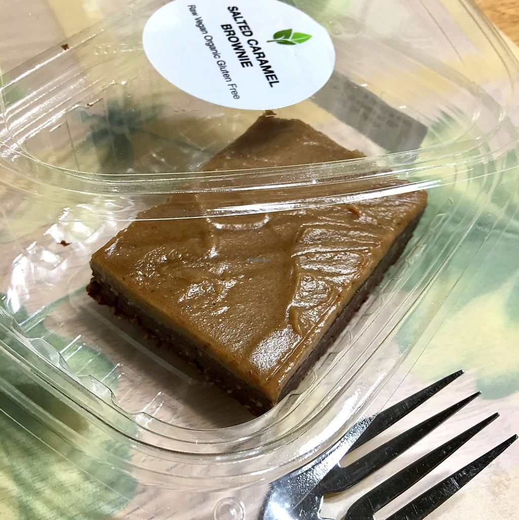 """Photo of Living Kitchen  by <a href=""""/members/profile/KelseyHawkins"""">KelseyHawkins</a> <br/>Raw vegan salted caramel brownie. Amazing!!! <br/> May 28, 2017  - <a href='/contact/abuse/image/78100/263210'>Report</a>"""