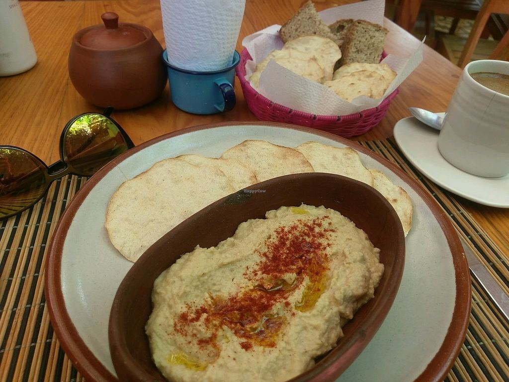 "Photo of La Jicara  by <a href=""/members/profile/amylorelle"">amylorelle</a> <br/>my Hommus and coffee with free bread plate <br/> September 15, 2017  - <a href='/contact/abuse/image/78114/304805'>Report</a>"