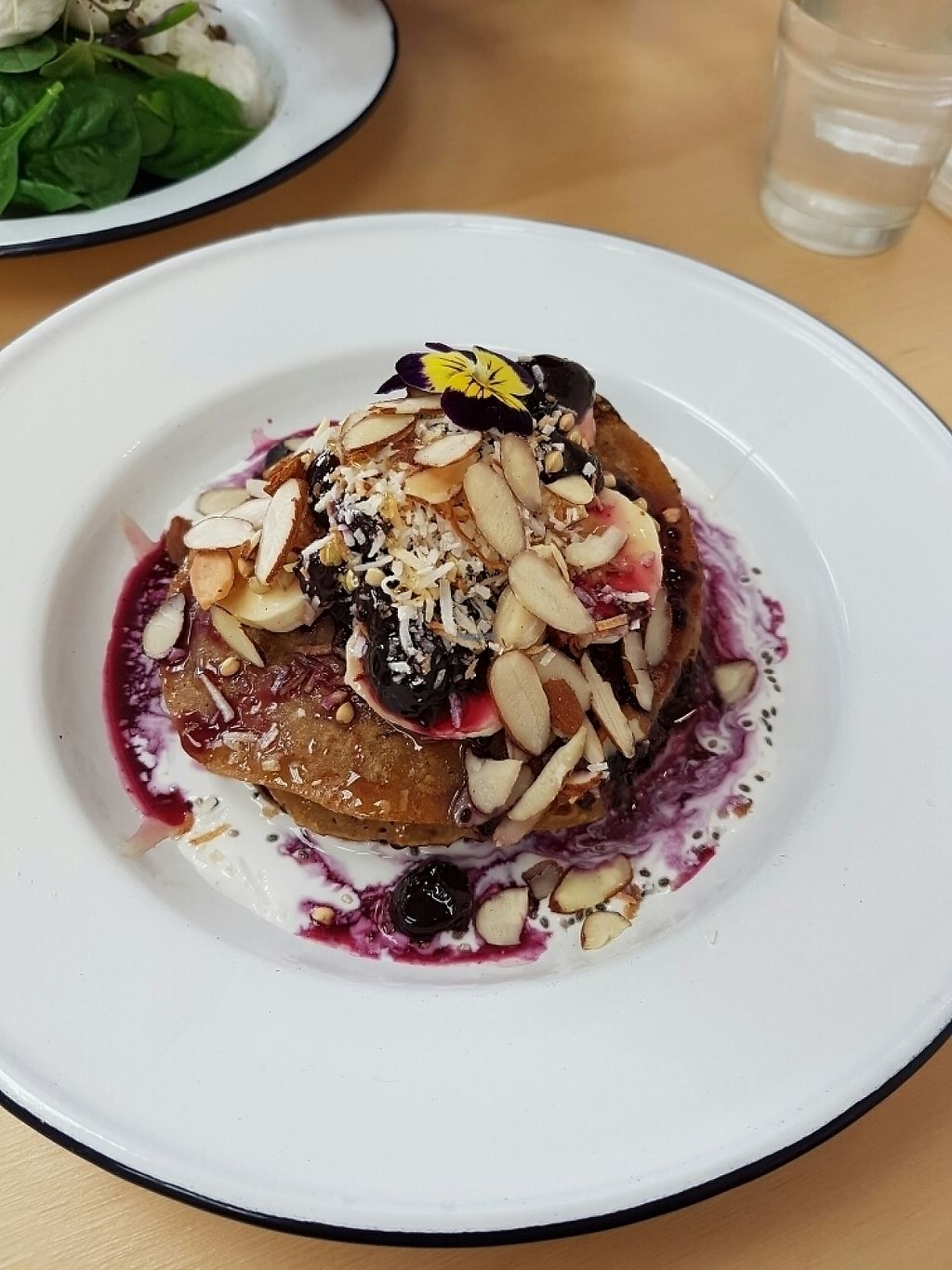 """Photo of Wild One Wholefoods Eatery   by <a href=""""/members/profile/ChellyStokman"""">ChellyStokman</a> <br/>Vegan Blueberry Pancakes <br/> January 15, 2017  - <a href='/contact/abuse/image/78133/212254'>Report</a>"""
