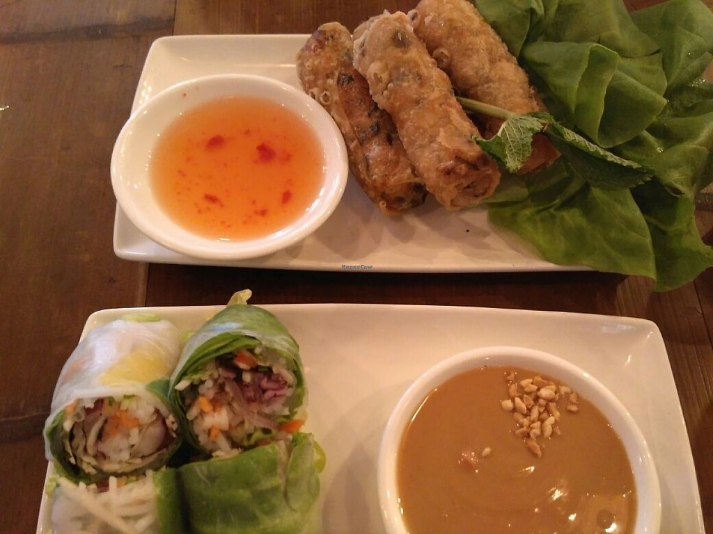 """Photo of Pho  by <a href=""""/members/profile/Miggi"""">Miggi</a> <br/>fresh and fried spring rolls <br/> May 20, 2017  - <a href='/contact/abuse/image/78137/260602'>Report</a>"""