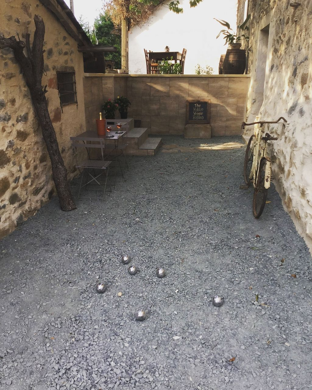 """Photo of The Hidden Veggie Kitchen  by <a href=""""/members/profile/veggiekitchenfr"""">veggiekitchenfr</a> <br/>Play Boules after your meal on our lower level terrace. Great fun :) <br/> July 23, 2017  - <a href='/contact/abuse/image/78159/283806'>Report</a>"""