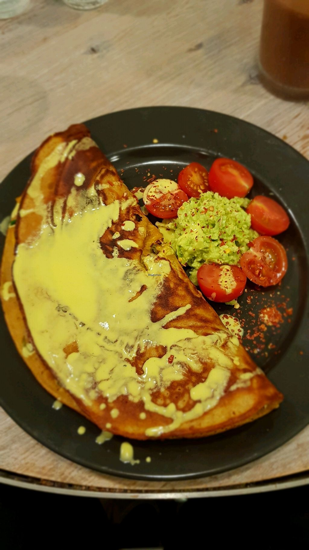 """Photo of Paradise Unbakery  by <a href=""""/members/profile/CarlocoIsVegan"""">CarlocoIsVegan</a> <br/>Chickpea omelette  <br/> January 11, 2018  - <a href='/contact/abuse/image/78199/345480'>Report</a>"""