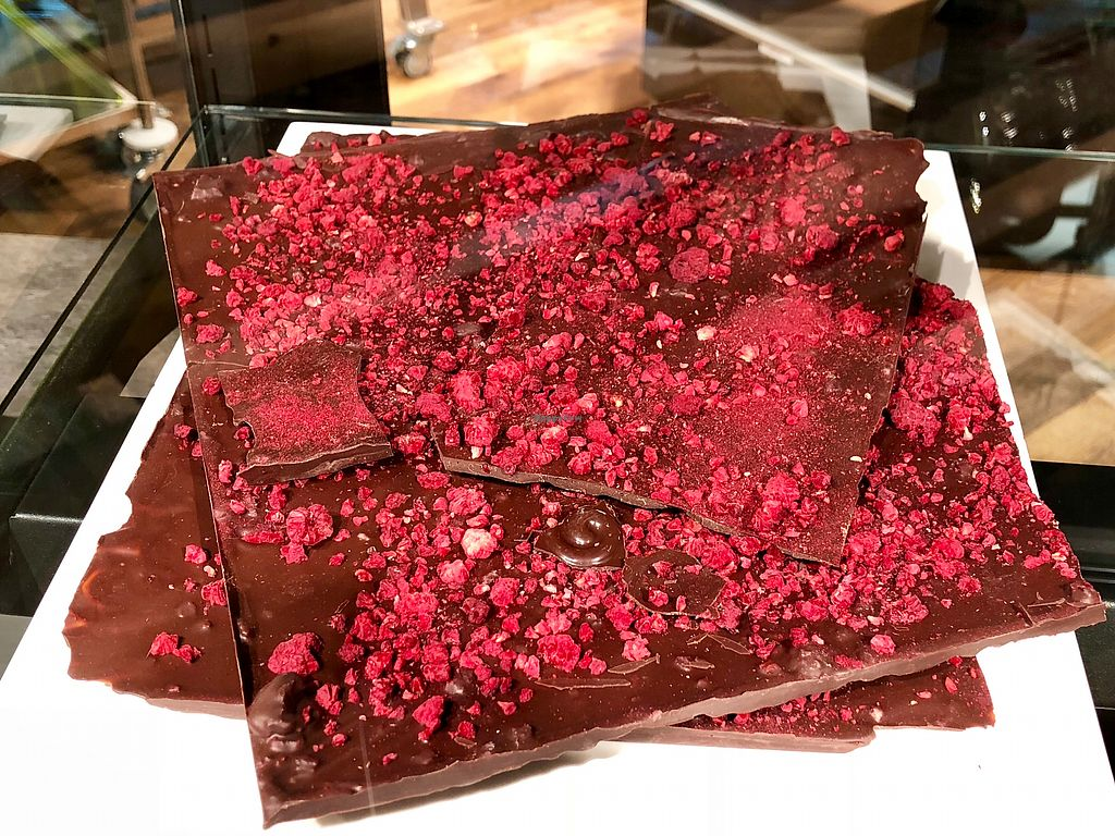 """Photo of Naturkostbar  by <a href=""""/members/profile/marky_mark"""">marky_mark</a> <br/>vegan raspberry chocolate <br/> March 31, 2018  - <a href='/contact/abuse/image/78218/378827'>Report</a>"""