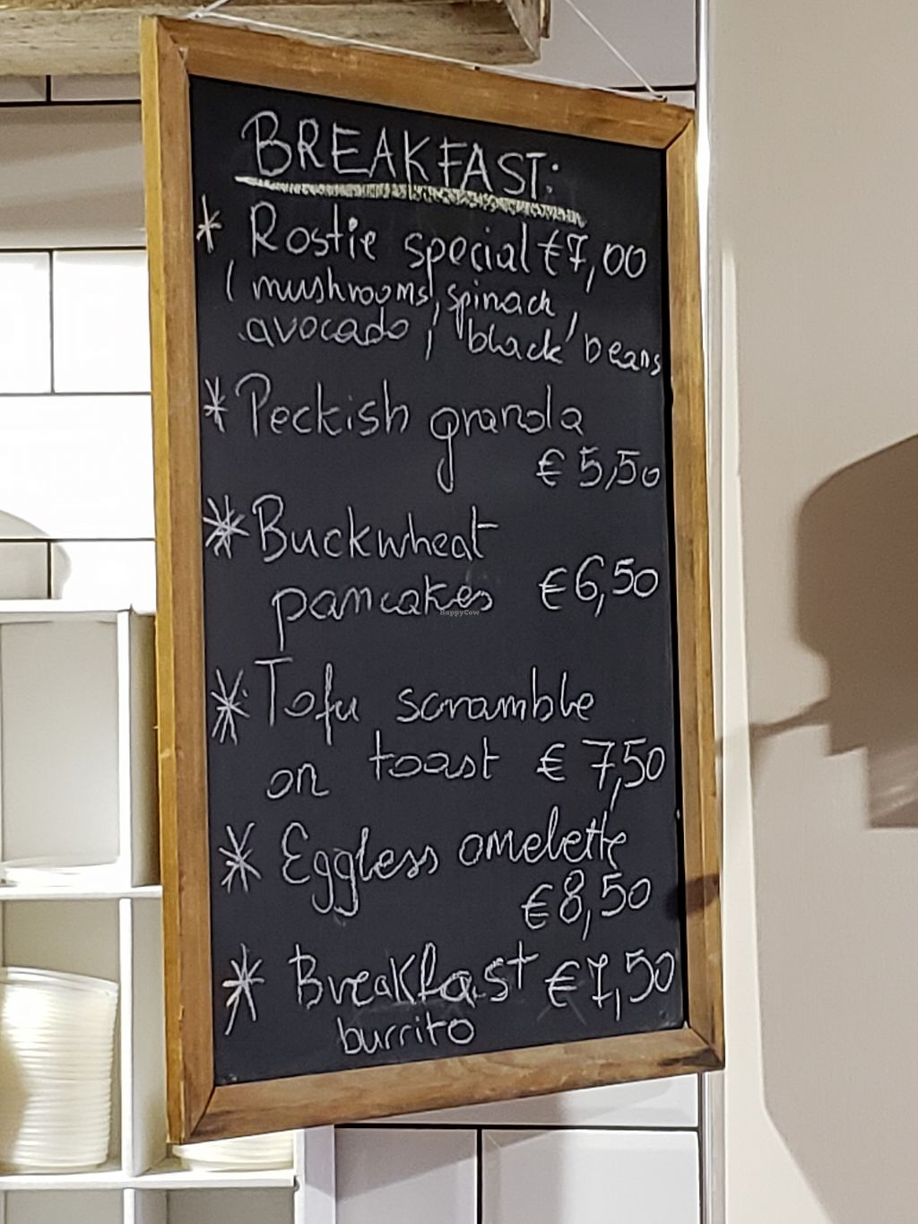 """Photo of Peckish Cafe  by <a href=""""/members/profile/reuvenk"""">reuvenk</a> <br/>Breakfast menu at the Peckish cafe, Ennis, Ireland <br/> April 17, 2018  - <a href='/contact/abuse/image/78253/387080'>Report</a>"""