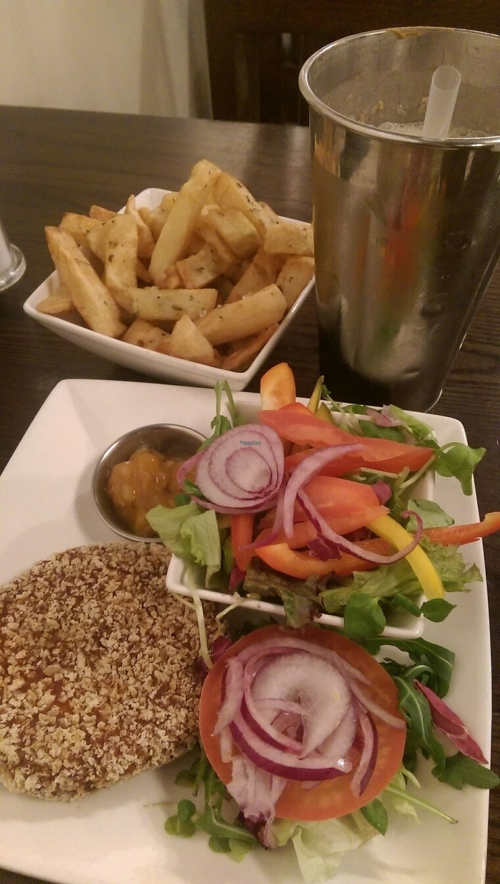 "Photo of Handmade Burger Co.  by <a href=""/members/profile/Melissaj1990"">Melissaj1990</a> <br/>Gluten free vegan burger and shake  <br/> January 1, 2017  - <a href='/contact/abuse/image/78257/206957'>Report</a>"