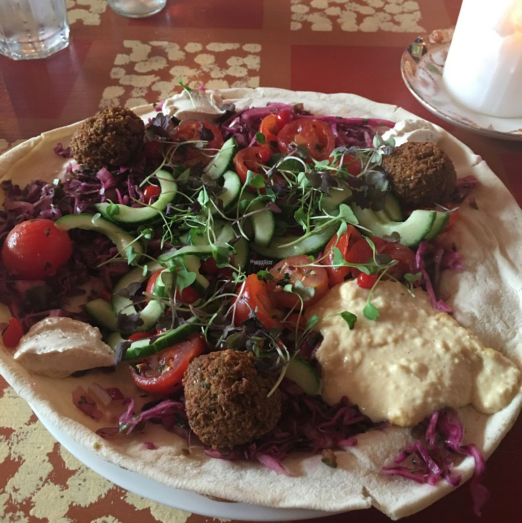 """Photo of Faro Lounge  by <a href=""""/members/profile/Vpicciano"""">Vpicciano</a> <br/>Vegan Lounge Flatbread <br/> August 11, 2016  - <a href='/contact/abuse/image/78272/167626'>Report</a>"""