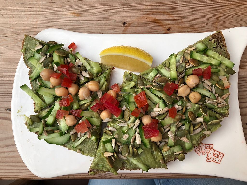 """Photo of Le Pain Quotidien - Yas Mall  by <a href=""""/members/profile/KrystaRaeRingler"""">KrystaRaeRingler</a> <br/>Open faced sandwich <br/> January 31, 2018  - <a href='/contact/abuse/image/78282/353144'>Report</a>"""