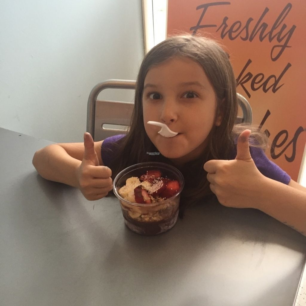 """Photo of Blondie's Vegan  by <a href=""""/members/profile/Heavenly"""">Heavenly</a> <br/>Enjoying an Acai Bowl <br/> August 9, 2016  - <a href='/contact/abuse/image/78289/167111'>Report</a>"""