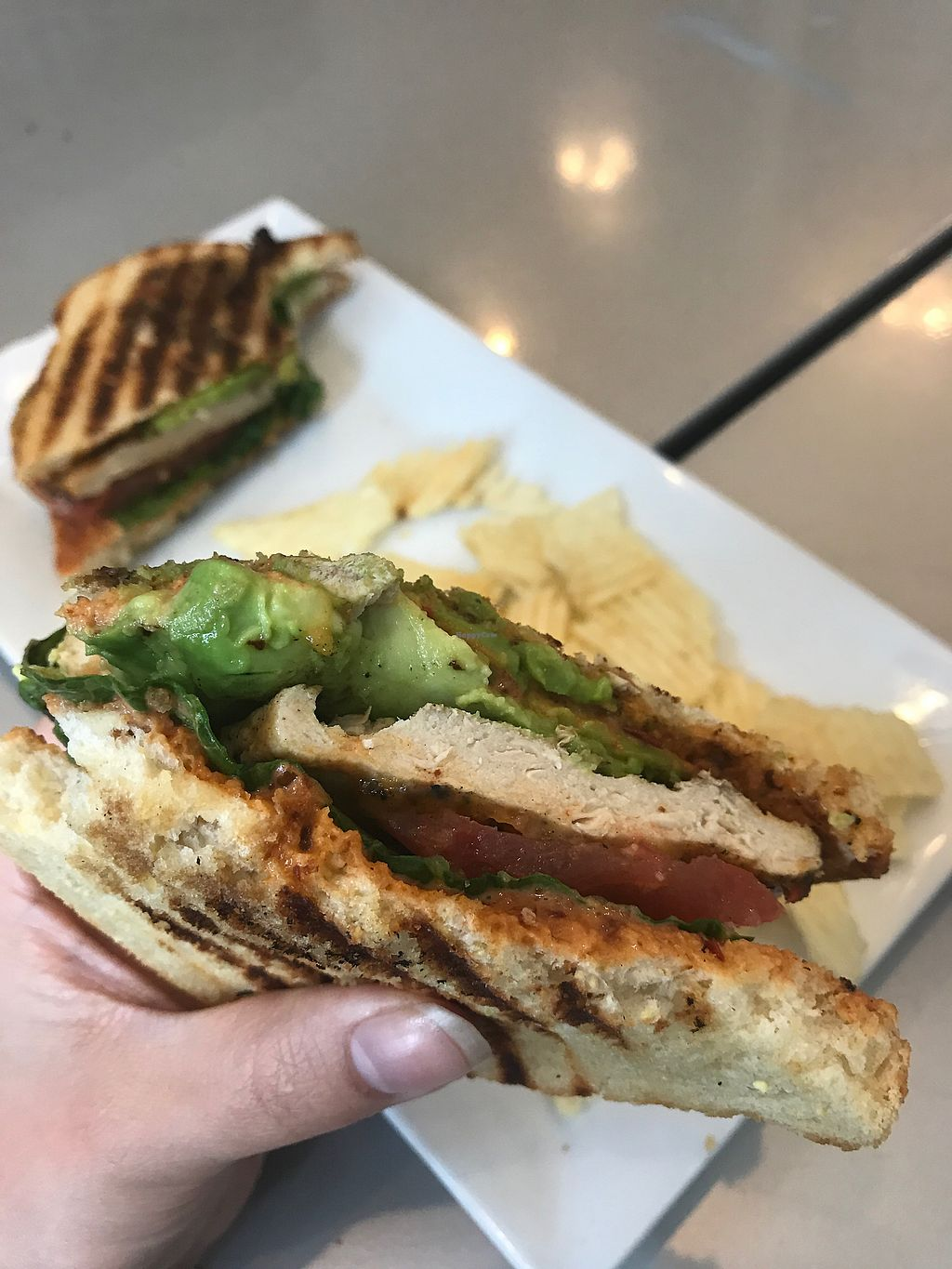 """Photo of Blondie's Vegan  by <a href=""""/members/profile/SamanthaRedning"""">SamanthaRedning</a> <br/>Chick'n chipotle avocado melt <br/> February 19, 2018  - <a href='/contact/abuse/image/78289/361329'>Report</a>"""