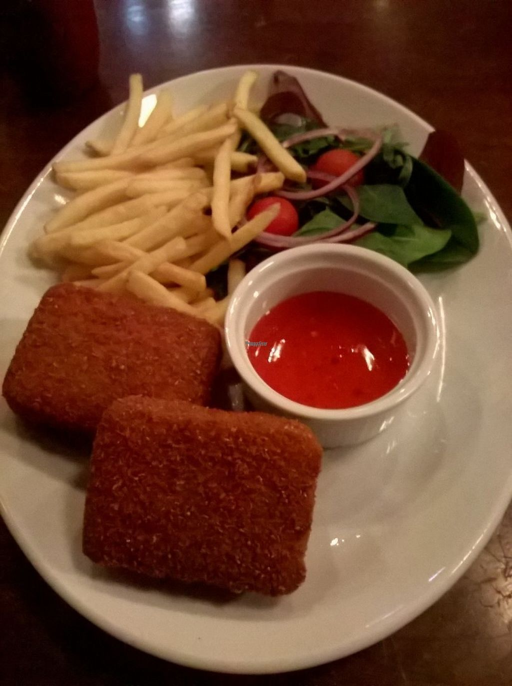 "Photo of The Central Bar  by <a href=""/members/profile/deadpledge"">deadpledge</a> <br/>Vegan nagi grills with skinny fries and sweet chilli dip <br/> December 19, 2016  - <a href='/contact/abuse/image/78393/202956'>Report</a>"