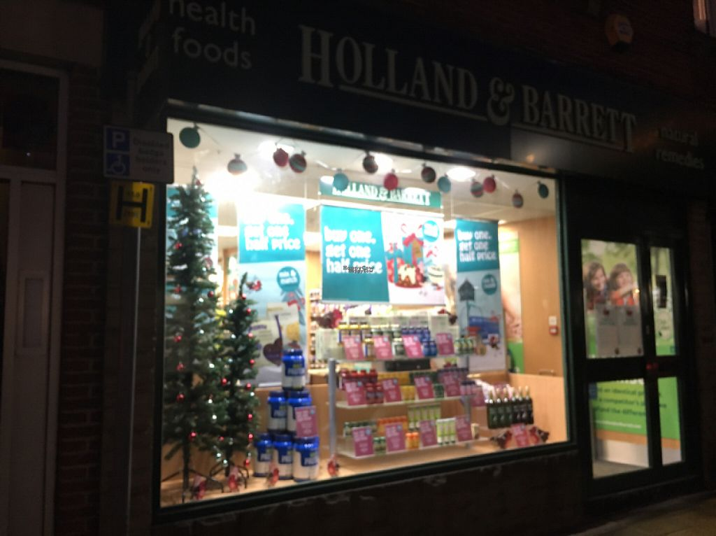 "Photo of Holland and Barrett  by <a href=""/members/profile/hack_man"">hack_man</a> <br/>outside  <br/> December 12, 2016  - <a href='/contact/abuse/image/78423/200277'>Report</a>"