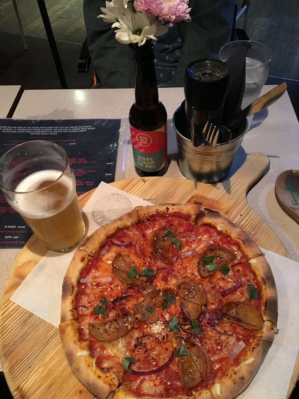 "Photo of Dead Wax Social  by <a href=""/members/profile/jamanthasmith"">jamanthasmith</a> <br/>Vegan Pizza ? <br/> October 8, 2017  - <a href='/contact/abuse/image/78424/313183'>Report</a>"
