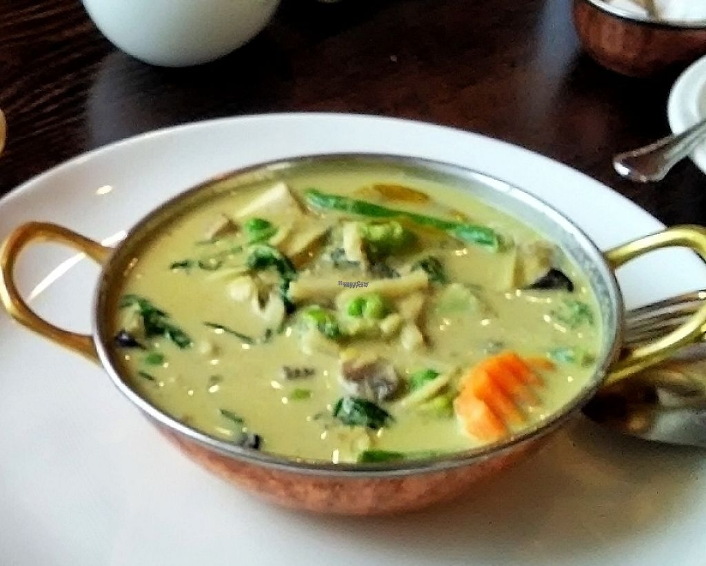 "Photo of Blue Lotus  by <a href=""/members/profile/KristineValtere"">KristineValtere</a> <br/>Thai Green Curry with Tofu and Vegetables. Very, very pleasent and authentic taste <br/> September 18, 2016  - <a href='/contact/abuse/image/78439/238461'>Report</a>"