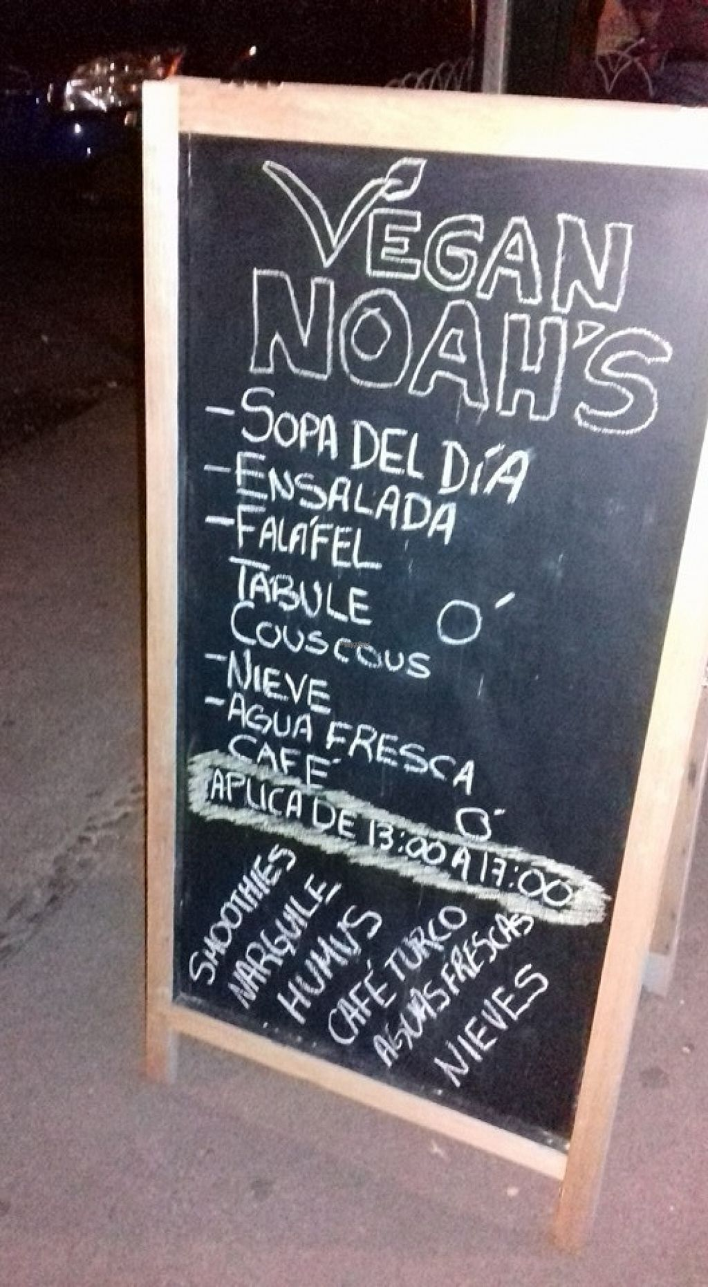 "Photo of CLOSED: Noah's Falafel House  by <a href=""/members/profile/Liz%20Vegan%20Grrrl"">Liz Vegan Grrrl</a> <br/>sign outside <br/> August 10, 2016  - <a href='/contact/abuse/image/78466/167545'>Report</a>"
