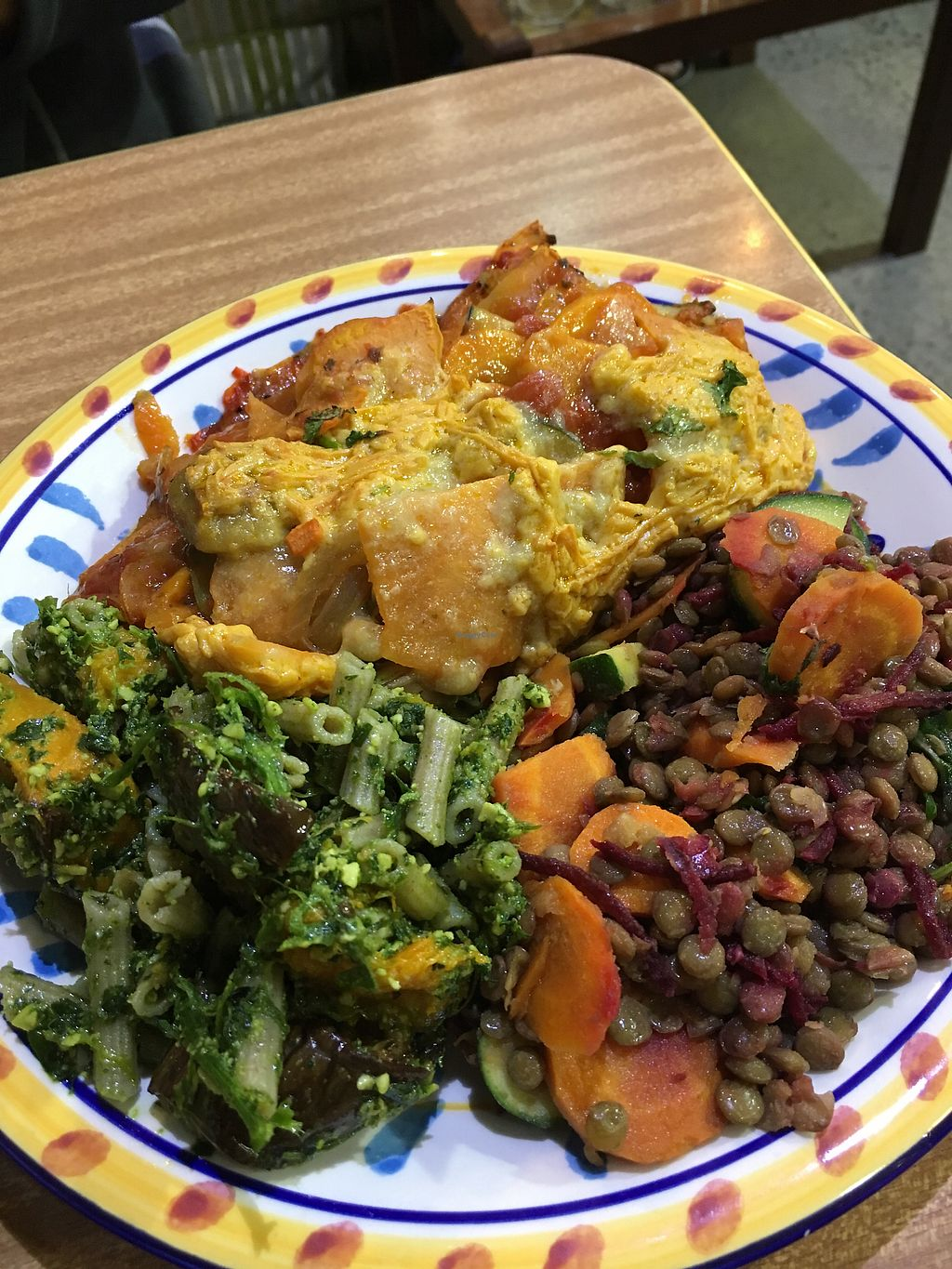 "Photo of Health Nuts Shop & Cafe  by <a href=""/members/profile/meianma"">meianma</a> <br/>Vegan lasagne with lentil and cake salad <br/> March 1, 2018  - <a href='/contact/abuse/image/78492/365486'>Report</a>"