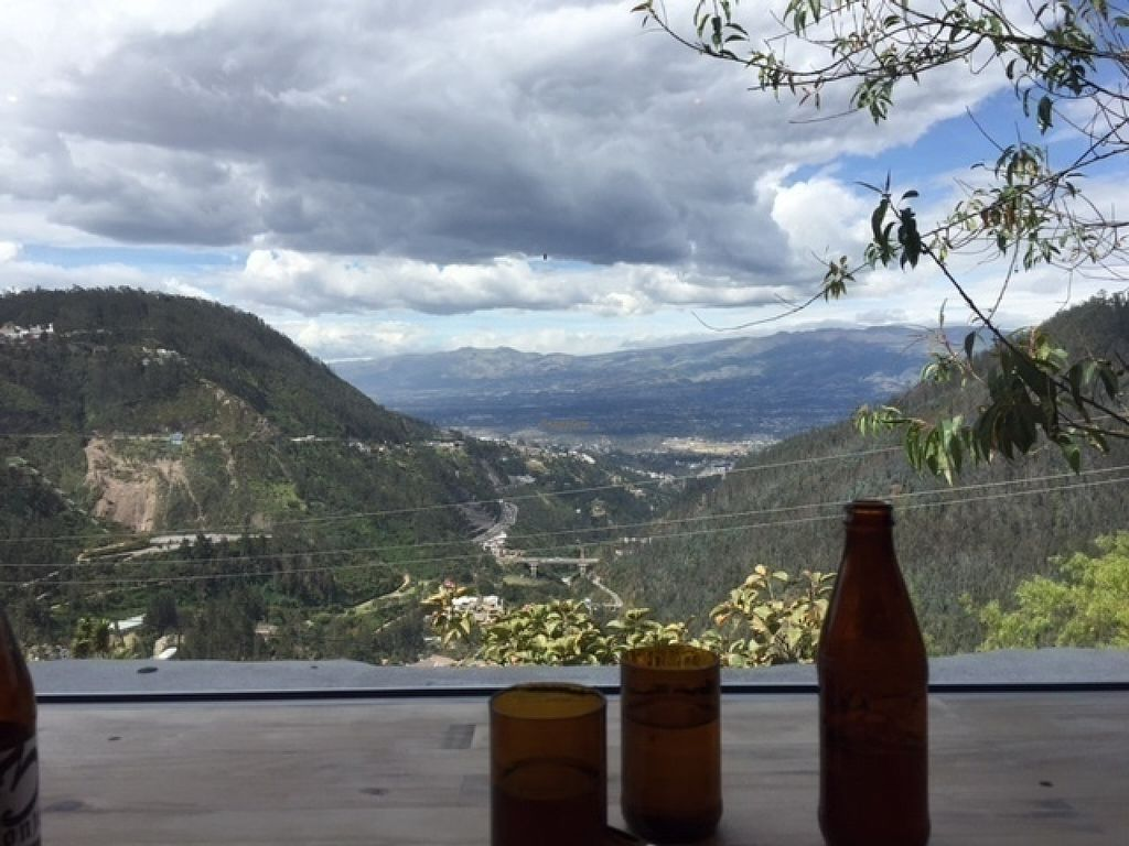 """Photo of Tandana  by <a href=""""/members/profile/LNDan"""">LNDan</a> <br/>Gorgeous view from restaurant seats.  """"Cerveza artisanal"""" and recycled glasses on top of the table made out of reclaimed/recycled wood.  Incredible location! <br/> August 19, 2016  - <a href='/contact/abuse/image/78515/170075'>Report</a>"""