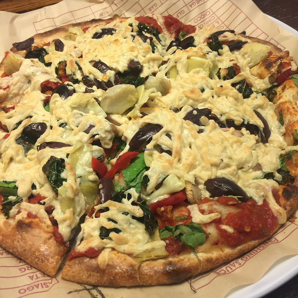 "Photo of Mod Pizza  by <a href=""/members/profile/venugopadev"">venugopadev</a> <br/>Vegan pizza <br/> December 28, 2016  - <a href='/contact/abuse/image/78518/205828'>Report</a>"