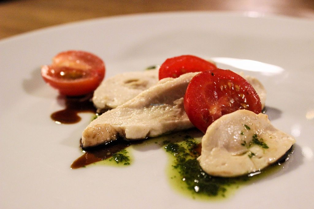 """Photo of Incruenti  by <a href=""""/members/profile/SueClesh"""">SueClesh</a> <br/>caprese salad with vegan mozzarella from cashew-soy milk with balsamic reduction <br/> December 21, 2017  - <a href='/contact/abuse/image/78551/337671'>Report</a>"""