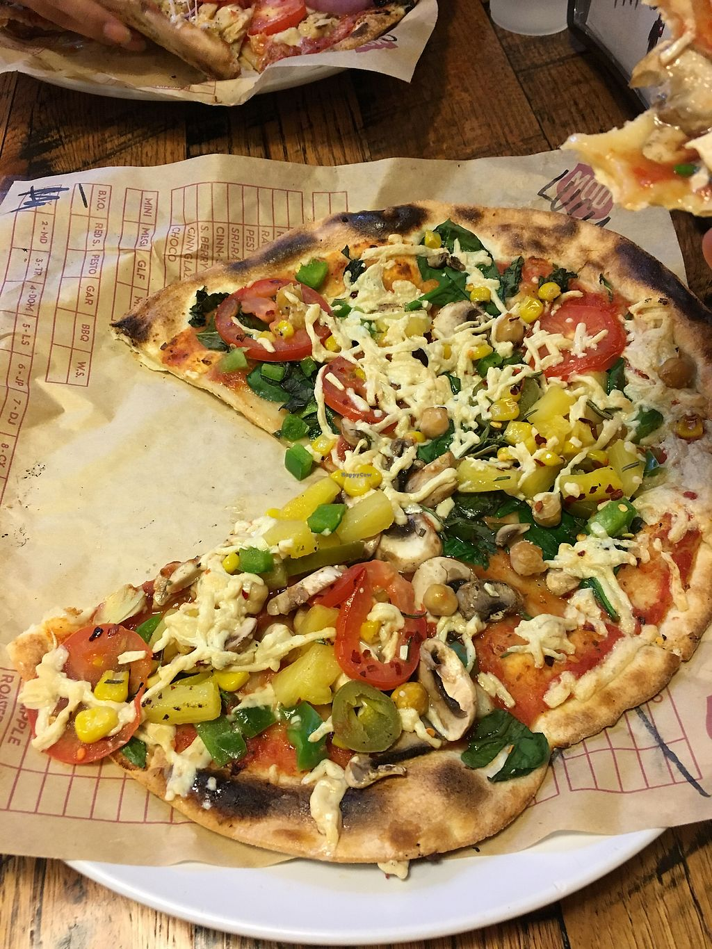 """Photo of Mod Pizza  by <a href=""""/members/profile/ChristineLee"""">ChristineLee</a> <br/>Vegan pizza  <br/> August 8, 2017  - <a href='/contact/abuse/image/78570/290283'>Report</a>"""