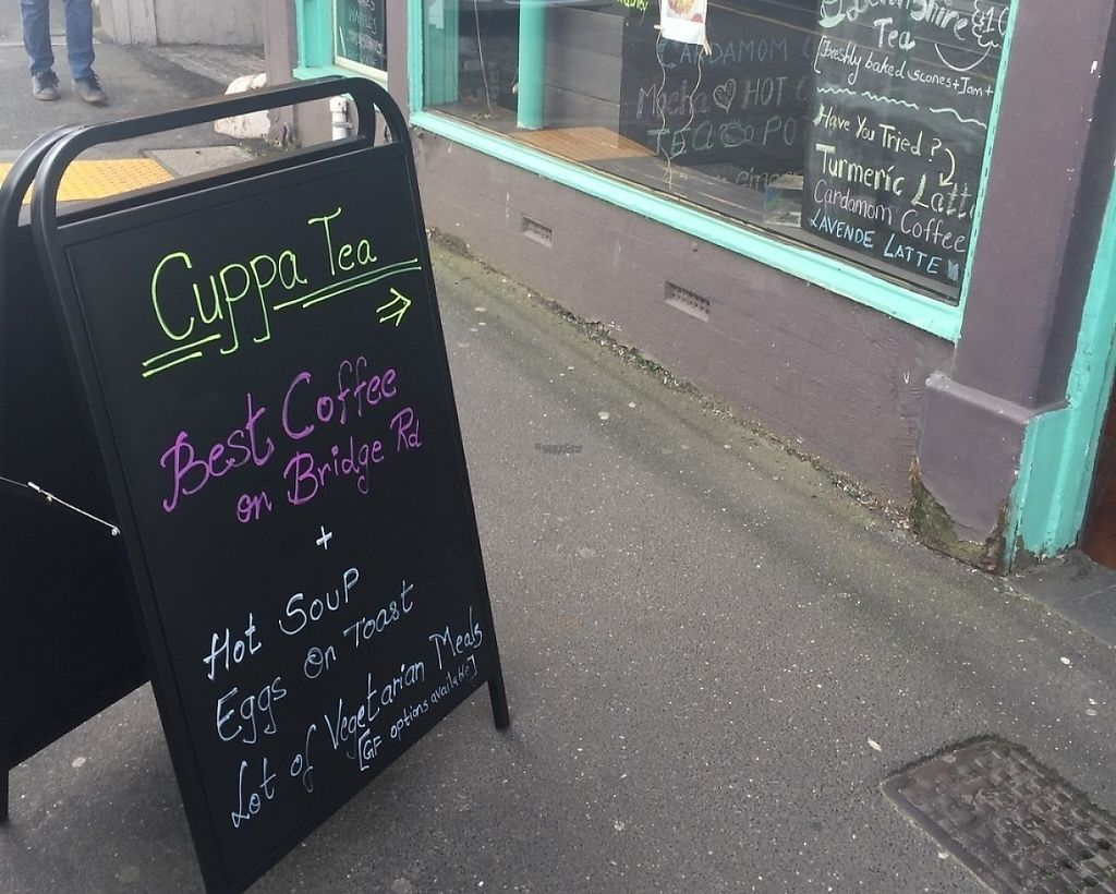 """Photo of CLOSED: Cuppa Tea  by <a href=""""/members/profile/Tiggy"""">Tiggy</a> <br/>Cafe sandwich board - August 2016 <br/> August 14, 2016  - <a href='/contact/abuse/image/78574/261878'>Report</a>"""